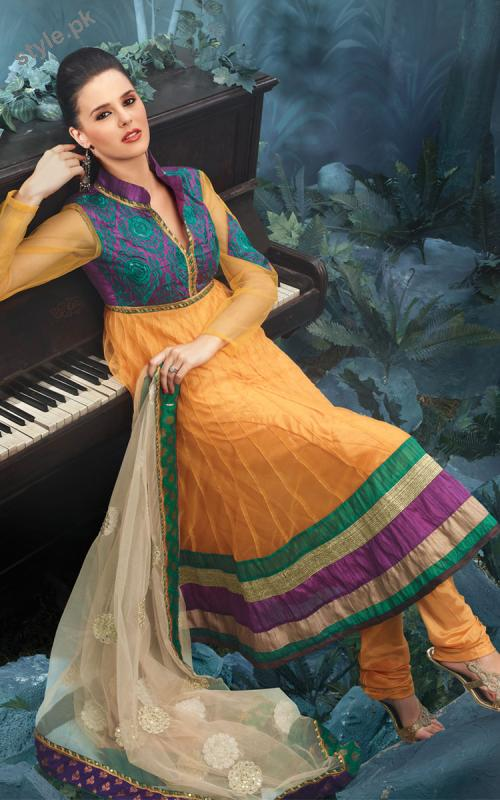 Latest Fashion Anarkali Frocks 2012 for Women 10 local designer clothes for women