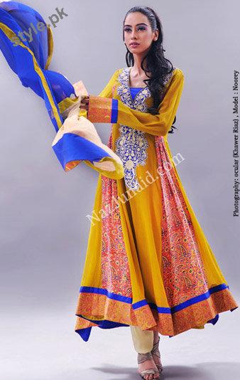 Latest Fashion Anarkali Frocks 2012 for Women 13