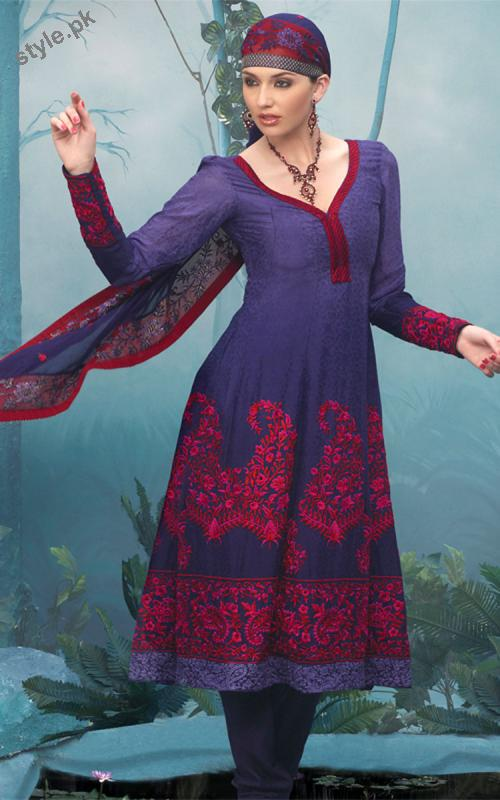 Latest Fashion Anarkali Frocks 2012 for Women 3 local designer clothes for women