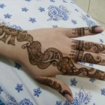 Latest Fashion Mehndi Designs For Women 2012 9