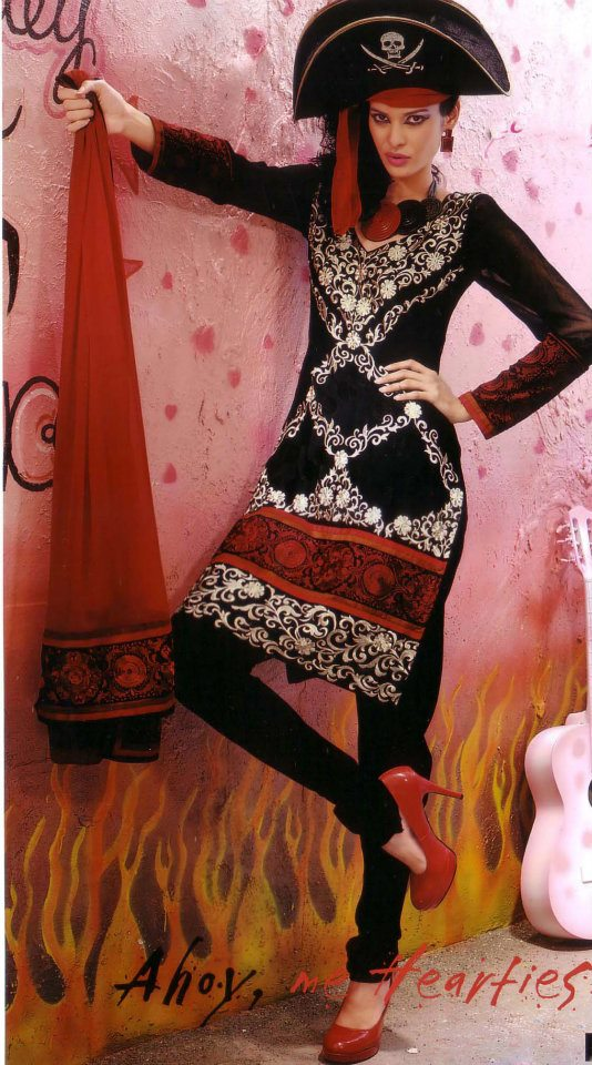 Latest Fashion Stitched Summer Suits 2012 by Mansha b local designer clothes for women