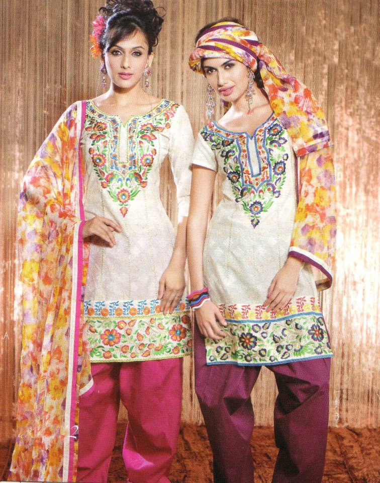 Latest Fashion Stitched Summer Suits 2012 by Mansha k local designer clothes for women