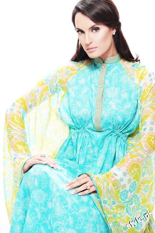 Latest Nadia Hussain Signature Lawn Prints 2012 1 designer dresses
