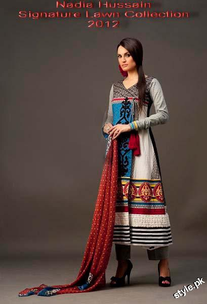 Latest Nadia Hussain Signature Lawn Prints 2012 2 designer dresses