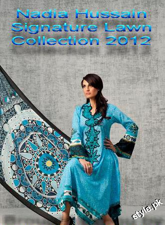 Latest Nadia Hussain Signature Lawn Prints 2012 3 designer dresses
