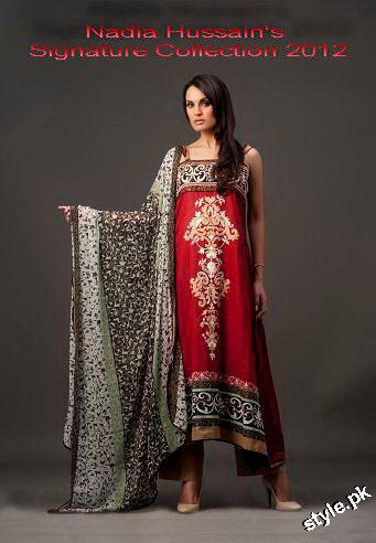 Latest Nadia Hussain Signature Lawn Prints 2012 4 local designer clothes for women
