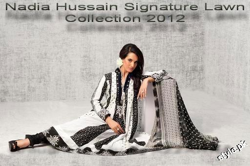 Latest Nadia Hussain Signature Lawn Prints 2012 5 designer dresses