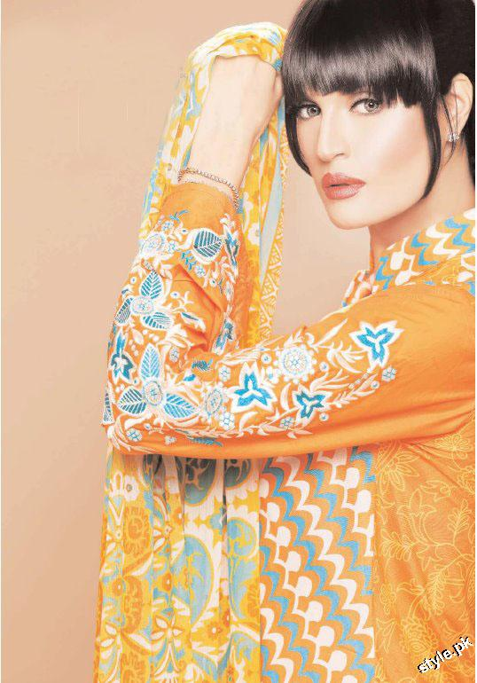 Latest Nadia Hussain Signature Lawn Prints 2012 6 designer dresses