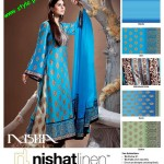 Latest Nishat Linen Summer Collection For Women 2012-006