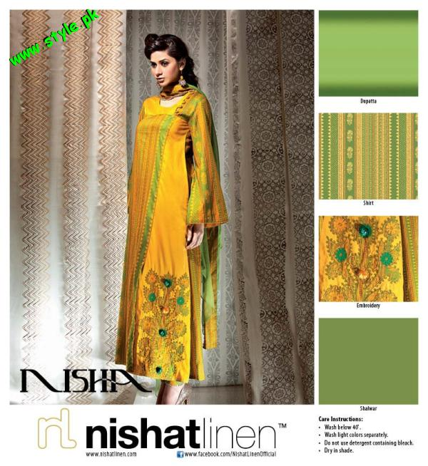 Nisha By Nishat Linen Embroidered Summer Lawn 2012-001