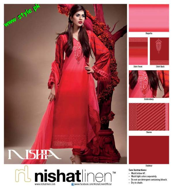 Nisha By Nishat Linen Embroidered Summer Lawn 2012-003