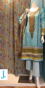 junaid jamshed lawn collection 2012 (13)