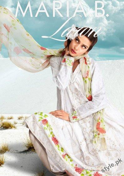 Latest Maria B Lawn 2012 Complete Collection 1 designer maria b local designer clothes for women