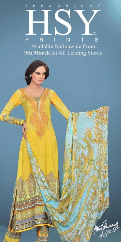 Latest Summer Lawn 2012 by The World of HSY Prints 2012 4 local designer clothes for women hsy designer