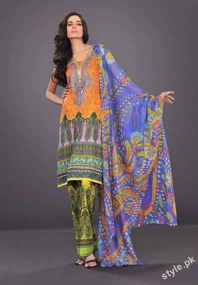 Latest Summer Lawn 2012 by The World of HSY Prints 2012 5 local designer clothes for women hsy designer