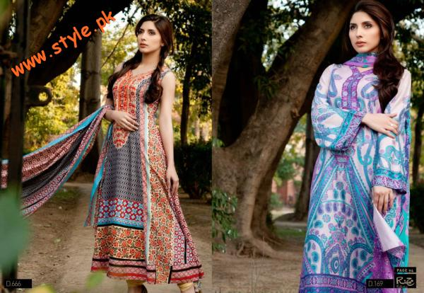 Latestt Libas & Riwaj Lawn Summer Casual Wear Collection By Shariq Textiles 2012-017