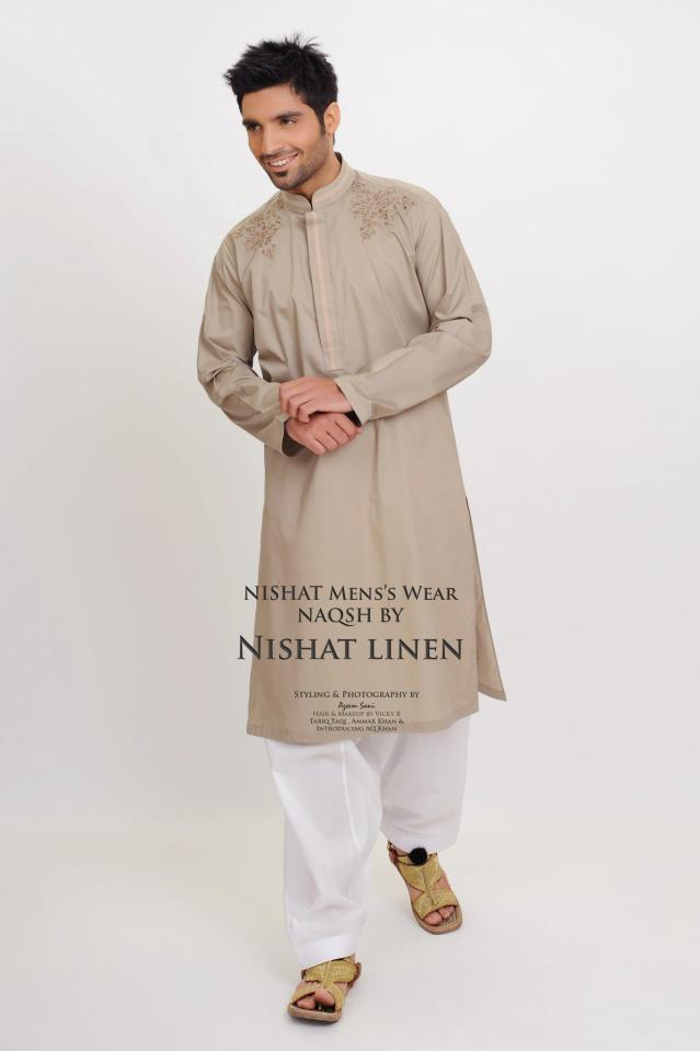 Naqsh Latest Summer Kurta Collection 2012 by Nishat Linen 2
