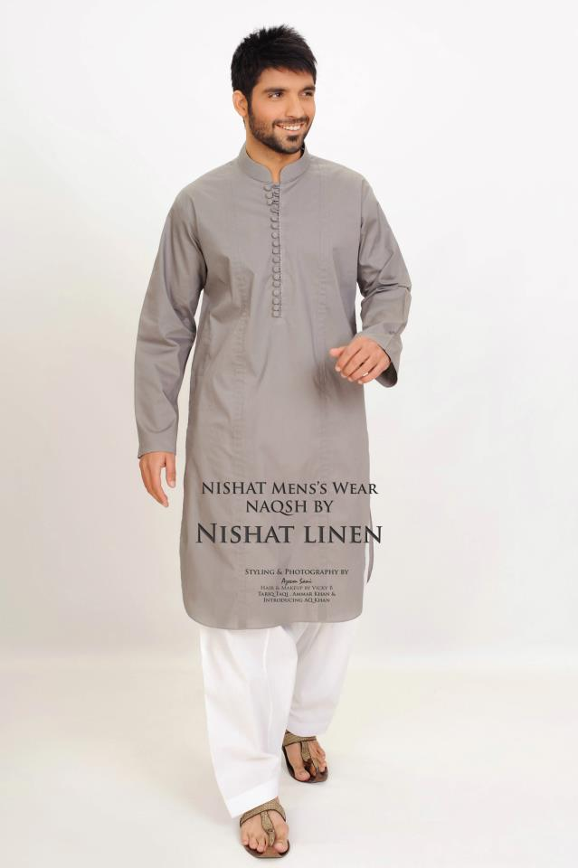 Naqsh Latest Summer Kurta Collection 2012 by Nishat Linen 7