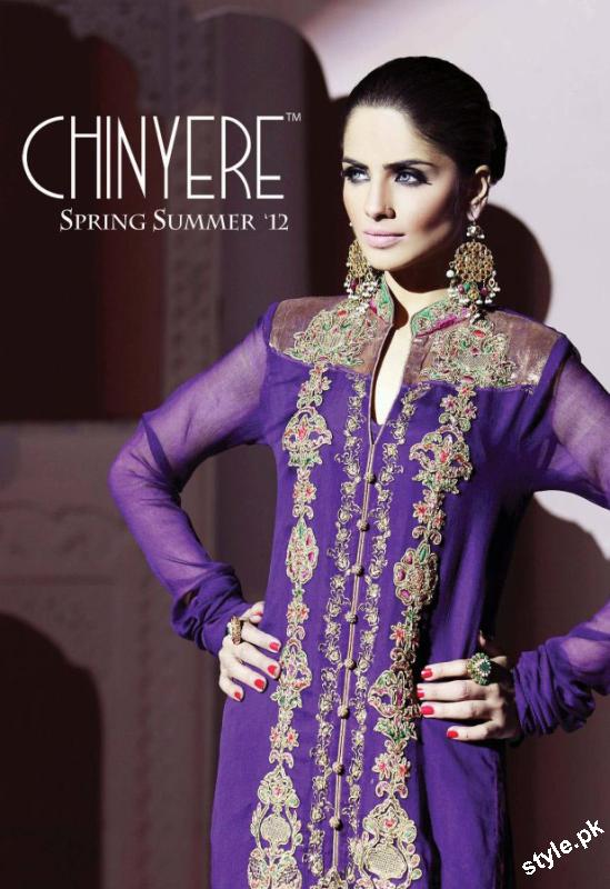 New Arrivals of Stitched Lawn Collection 2012 by Chinyere 2 local designer clothes for women chinyere bareeze pakistani brand