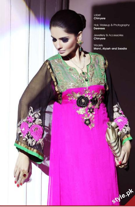 New Arrivals of Stitched Lawn Collection 2012 by Chinyere 3 local designer clothes for women chinyere bareeze pakistani brand
