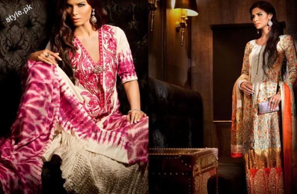 Sana Safinaz Latest SpringSummer Lawn Collection 2012 10 designer dresses