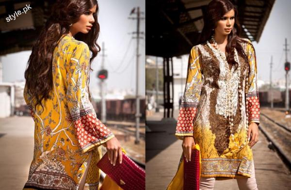 Sana Safinaz Latest SpringSummer Lawn Collection 2012 2 designer dresses