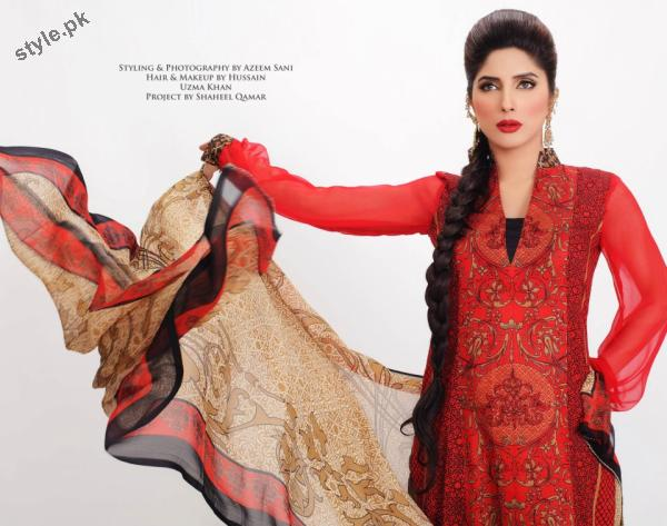 Stylish Lawn Dresses 2012 for Women of Pakistan 9 designer dresses