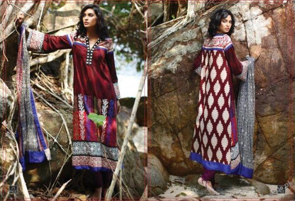 ZUNUJ Lawn 2012 For Summer by Lakhany Silk Mills 13 fashion brands designer dresses