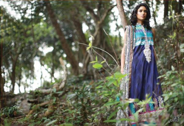 ZUNUJ Lawn 2012 For Summer by Lakhany Silk Mills 14 fashion brands designer dresses
