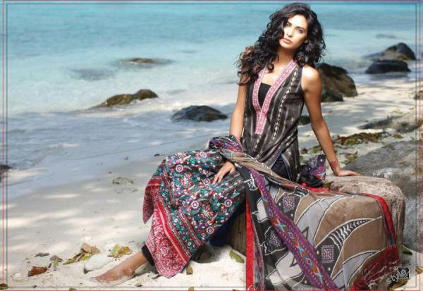 ZUNUJ Lawn 2012 For Summer by Lakhany Silk Mills 3 fashion brands designer dresses