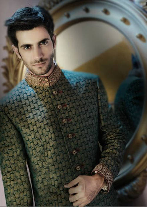 Amir Adnan Sherwani 012 new fashion men wear