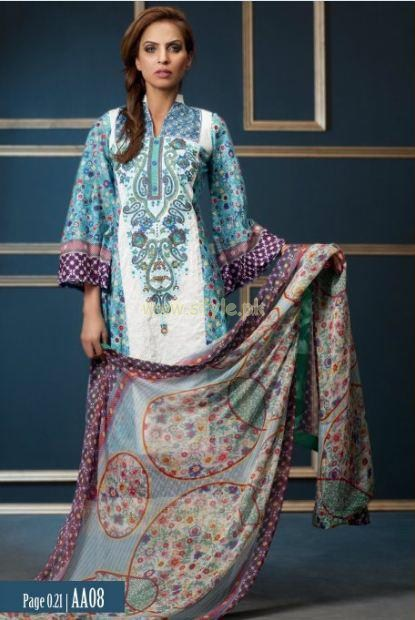 Subhata Embroidered Lawn dresses 2012 by Shariq Textiles 008