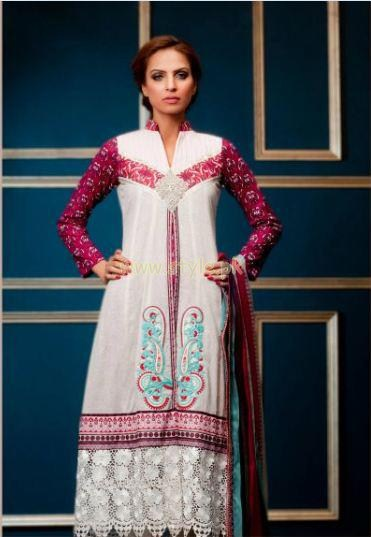 Subhata Embroidered Lawn dresses 2012 by Shariq Textiles 017
