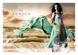 Zeniya Summer Collection Lawn Prints 2012 5 300x213 for women local brands