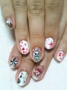 Simple Nail Art Designs for Summer 2012 002 225x300 nail art heath and beauty tips