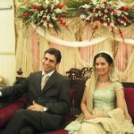 Wedding Dress Fawad Afzal and Wife 150x150 celebrity gossips