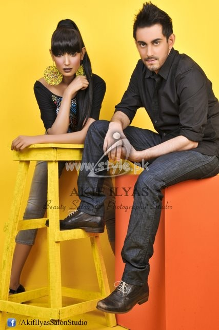 Akif Ilyas Summer 2012 Fashion Shoot Of Yellow I Love You Collection 006 photography style exclusives for women local brands