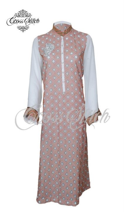 Cross Stitch Embroidered Chiffon Collection 2012 New Arrivals 001 for women local brands