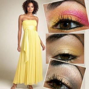 05bc66487611 Important Tips for Eye Makeup for Yellow Dress in Summer 2012
