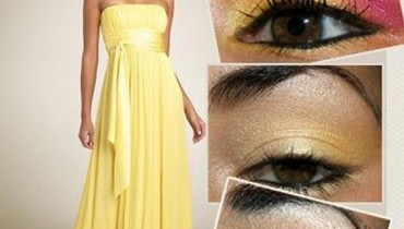 Important Tips for Eye Makeup for Yellow Dress in Summer 2012 001