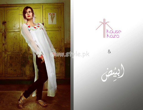 Kause Kaza Latest Kurta Designs For Women 2012 001 for women local brands