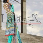 Latest Lala Textiles Summer Dresses 2012 For Women 009