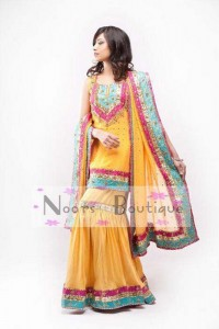 Noorz Boutique Mehndi Dresses 2012 For Women 003 200x300 wedding wear