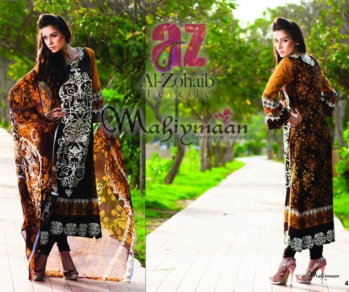 Al-Zohaib Mahiymaan Lawn Prints 2012 for Women