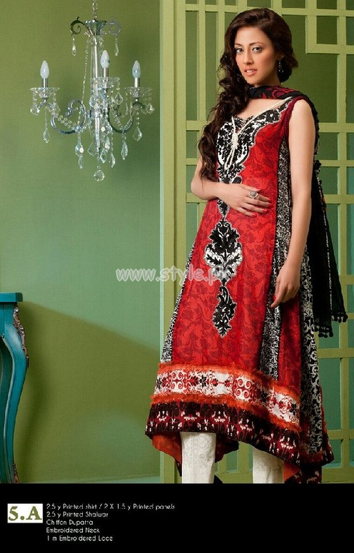 Ayesha Somaya Latest Lawn Prints For Women 2012 003