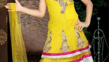 Beautiful Kids Anarkali Frocks Collection 2012 001
