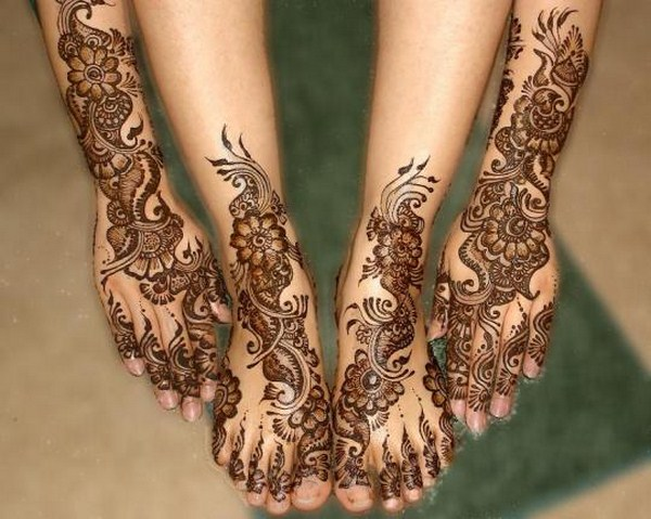 Eid Mehndi Designs 2012 For Feet 001