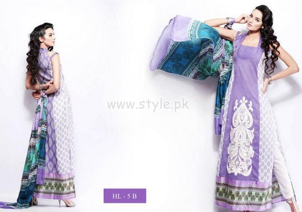 Hira Lari By Afroze Textiles Dresses For Eid 2012 001