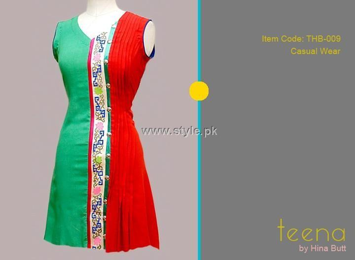 Teena by Hina Butt 2012 New Casual Wear Dresses