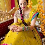Latest Pakistani Bridal Multi Color Mehndi Outfits 2012 001